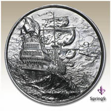 The Siren P2 Elemetal 2 oz Privateer Ultra High Relief Silver Round