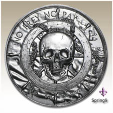 The Captain Elemetal Privateer Series High Relief 2 oz .999 Silver Pirate Round